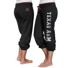 Texas A&M Aggies Ladies Glimmer Capri Pants - Black