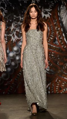 Jenny Packham Fall/Winter 2015 via @stylelist | http://aol.it/1a5JU1d