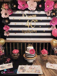 ideas birthday surprise for mom decoration Birthday Themes For Adults, 40th Birthday Decorations, 30th Birthday Parties, Birthday Party Themes, 60th Birthday Ideas For Mom Party, 40th Birthday For Women, Slumber Parties, Birthday Surprise For Mom, Fabulous Birthday