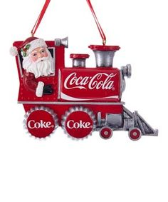 Great gift for anyone who loves Coca-Cola, collects Santas or a train collector! Our Coca-Cola Santa Train Ornament will make everyone smile and want to drink a Coke! Old World Christmas Ornaments, Santa Ornaments, How To Make Ornaments, Christmas Time, Merry Christmas, Christmas Scenes, Rustic Christmas, Christmas Treats, Christmas Stuff