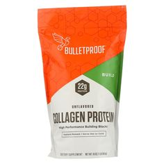 Bulletproof Collagen Protein - Upgraded - 16 Oz Country of origin : USA, Iowa Dairy Free : Yes Wheat Free : Yes Size : 16 OZ Pack of : 1 Product Selling Unit : each Collagen Skin Care, Collagen Food, Dark Green Vegetables, Protein Power, Soy Products, Bodybuilding Supplements, Blood Vessels, Skin Firming