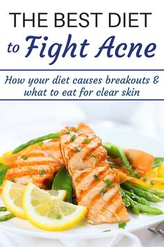 The Best Diet to Fight Acne - learn how your diet causes breakouts and what to eat for clear skin! From Christy Brissette, media registered dietitian nutritionist and president of 80 Twenty Nutrition in Toronto and California