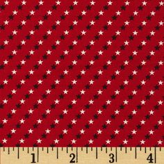 Made in the USA Small Stars Red, White, Blue from @fabricdotcom  This cotton print fabric is made in the USA and perfect for quilting, apparel and home decor accents. Colors include red, white and blue.