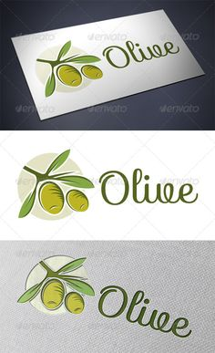 Olive Oil Logo Design Template Vector #logotype Download it here: http://graphicriver.net/item/olive-oil-logo/5365501?s_rank=1293?ref=nexion