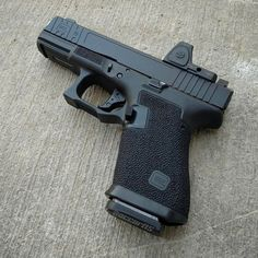 Weapons Guns, Guns And Ammo, Glock Stippling, Glock Mods, Custom Guns, Custom Glock 19, Firearms, Shotguns, Military Guns