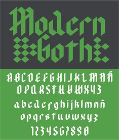Modern Goth is a stunning yet clean blackletter display font. This font is perfect for use in vintage designs, and. Medieval Font, Modern Goth, Gothic Fonts, Commercial Fonts, Vintage Goth, Goth Home, Handwriting Fonts, All Fonts, Premium Fonts