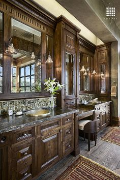 Granite - simple, Hardwood, Craftsman, Inset, Raised Panel, Double, Pendant, Wall sconce