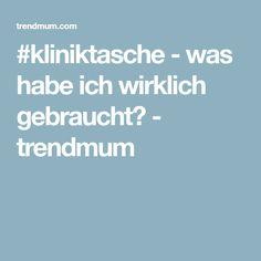 #kliniktasche - was habe ich wirklich gebraucht? - trendmum