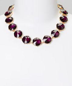 Look what I found on #zulily! Violet Jewel Necklace #zulilyfinds