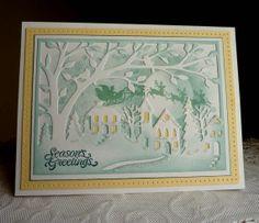 Stampin up CottageCutz  Handmade card  Season by llenusik on Etsy, $10.99