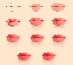 【绘画教程】kiss 唇