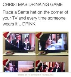 Are you ready for the epic Christmas drinking game?Are you ready for the epic Christmas drinking game? Christmas Drinking Games, Movie Drinking Games, Friends Drinking Game, Drinking Funny, Fun Games, Party Games, Funny Jokes, Drunk Humor, The Best
