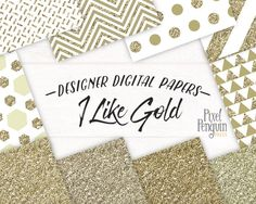Add a little glam to your classy new sticker set. Gold is always in fashion. Use this digital paper pack to add glitter to your planner or a touch of metallic gold texture to your scrapbook or diy wedding project! >> Click through to see all 10 patterns Gold Glitter Background, Rose Gold Glitter, Gold Sparkle, Metallic Gold, Glitter Nails, Polka Dot Paper, Gold Polka Dots, New Sticker, Digital Scrapbook Paper