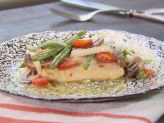 Lemon Citrus Cod with Vegetables recipe from Trisha Yearwood via Food Network