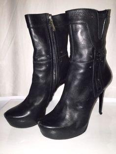 Gianmarco Lorenzi Black Leather Boots - 39