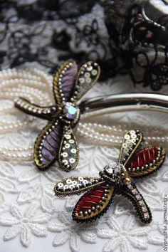 """Купить Брошь """"Purple droplet"""" - винтажные украшения, итальянский стиль, брошь, винтажная брошь"""