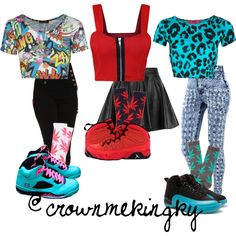 Girl Group Outfits, created by crownmekingky on Polyvore