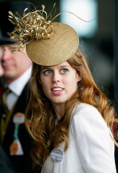 Princess Beatrice of York in #Gold #Fascinator | Famous Fascinator