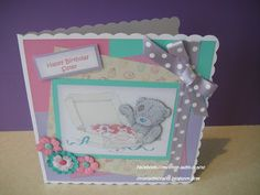 Tatty Teddy cake box card