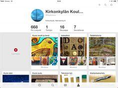 Kirkonkylän koulun pieni kehitystyöprojekti: koulun oma Pinterest-sivusto täynnä vinkkejä opetukseen.