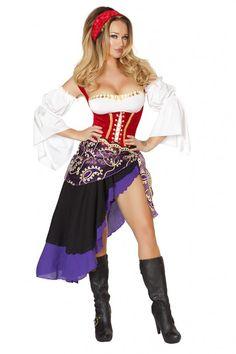 7311062ac7 6 PC Sexy Gypsy Maiden Costume