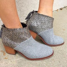 Our latest obsession!  These booties will be your go to shoe for your fall wardrobe! | Booties $98 | #fallfashion #musthaves #juneandbeyond #417 #toms #booties