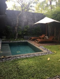 The Kayana Bali, Seminyak Picture: One Bedroom Villa with Plunge Pool - Check out TripAdvisor members' candid photos and videos. pool ideas One Bedroom Villa with Plunge Pool - Picture of The Kayana Bali, Seminyak - TripAdvisor Backyard Pool Landscaping, Backyard Pool Designs, Small Backyard Pools, Garden Pool, Backyard Ideas, Landscaping Ideas, Small Backyards, Garden Ideas, Small Swimming Pools