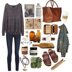 Untitled #378 by the59thstreetbridge on Polyvore featuring Mode, rag & bone, Birkenstock, Daniel Wellington, McGuire, Aesop, Jayson Home, Kikkerland, Lotuff & Clegg and Tiro Tiro