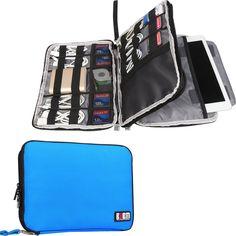 Capable Waterproof Double Layer Cable Storage Bag Electronic Organizer Gadget Travel Bag Usb Earphone Case Gigital Organizador Comfortable Feel Home Storage & Organization Storage Bags