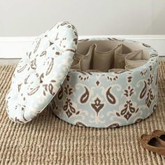 Shoe storage ottomans.  I need this for college