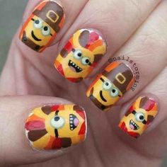 MINIONS THANKSGIVING by nailstorming #nail #nails #nailart | More outfits like this on the Stylekick app! Description from pinterest.com. I searched for this on bing.com/images