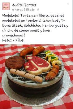 """Torta modelada """"Parrillera"""""""