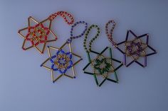 4 Beaded Stars from Glitterwitch. £4 + £1 P&P
