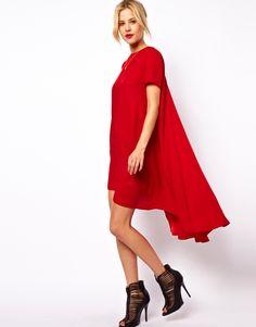 ASOS T-Shirt Dress With Dipped Back Hem