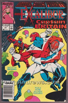 MARVEL COMICS PRESENTS #33 EXCALIBUR featuring CAPTAIN BRITAIN comic book 1989