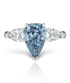 Natural Fancy Intense Blue Diamond Ring