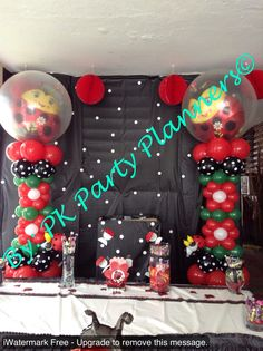 Lady Bug Welcome Baby Shower  follow this complete Birthday Decoration on our Facebook Page https://www.facebook.com/pages/PK-Party-Planners/435867733178759
