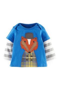 Mini Boden Layered Sleeve T-Shirt (Baby Boys) | Nordstrom