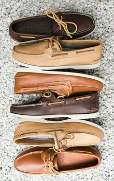 The ultimate summer shoe: Sperry boat shoes pair well with both a suit and a bathing suit.