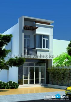 check out flr (glass door) with one whole bedroom Modern Zen House, Modern House Plans, Small House Plans, Modern House Design, Duplex House Design, House Front Design, Narrow House Designs, Small House Exteriors, Minimalist House Design