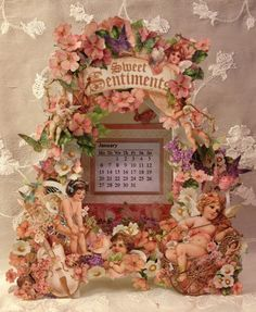 Graphic 45 Sweet Sentiments calendar box for CHA winter 2014