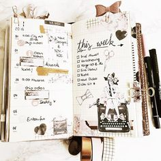 When you love a new Kit so much, that you have to use it immediately #bohoplanning #foxyfix #chicsparrow #pedorilove #pedorivienna #midoritravelersnotebook #travelersnotebook #vintage #planner #plannerlove #planneraddict #stickers #washitape #stationary #fashion #fashionblogger #typewriter #handlettering