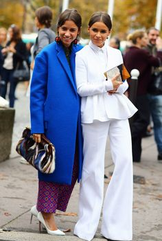 Natasha Goldenberg + Miroslava Duma | Street Fashion | Street Peeper | Global Street Fashion and Street Style