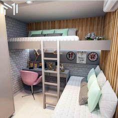 40 + modern and dreamy dorm & bedroom design ideas for you - Page 31 of 44 Dorm design, bedr 40 + modern and dreamy dorm & bedroom design ideas for you - Page 31 of 44 Dorm design, bedroom decor, home design, interior design Room Ideas Bedroom, Small Room Bedroom, Dorm Room, Bedroom Beach, Master Bedroom, Loft In Bedroom, Loft Bed Room Ideas, Space Saving Bedroom, Small Apartment Bedrooms