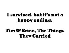 Memories of the vietnam war in the things they carried written by tim obrien