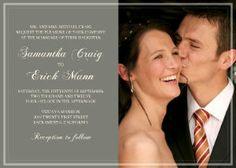 Mixbook Classic Photo Wedding Invitations