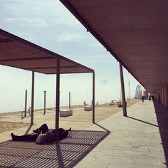 Cose strane accadono nella barceloneta il mare sparisce nella nebbia a mezzogiorno una luce stranissima avvolge tutti e quella é li in mezzo una vela ma non di una nave fantasma   Cosas raras pasan en la barceloneta el mare y el ciel son una cosa sola y la luz está muy rara ahí nel medio hay una vela pero no de un barco de piratas  #nofilter #bcn #barceloneta #barcelona #barcelonetabeach #strangethings #beach #playa #spiaggia #light #luz #luce #nebbia #fog #niebla