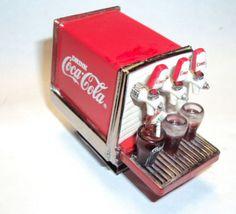 Amazing 1/24 scale coca cola coke soda pop fountain machine miniature collector