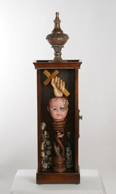 Portrait of Self, found object assemblage by Roberta Karstetter