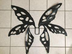 Magalie Sarnataro's props Dark Fairy wings Halloween 2018 Wire, Black plastic wrap ,ribbon and glue Halloween School Treats, Halloween 2018, Fairy Wings, Plastic Wrap, Dark Fairies, Ribbon, Wire, Costumes, Black